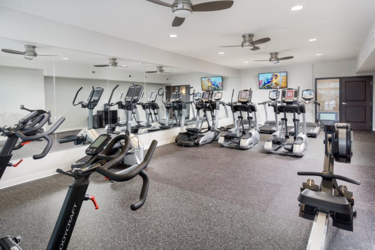 24/7 PoweRED Strength & Cardio Fitness Center at the red apartments