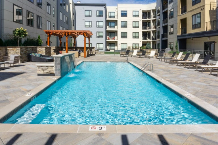 theRED Apartments outdoor swimming pool
