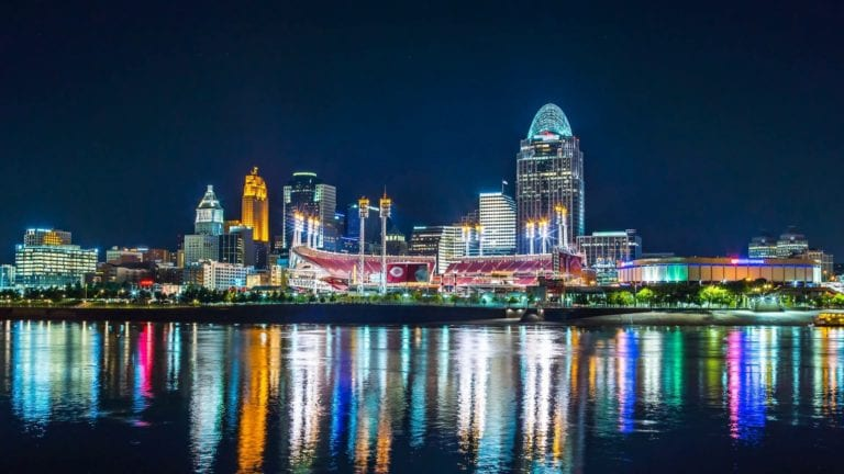 Ohio River and Downtown Cincinnati