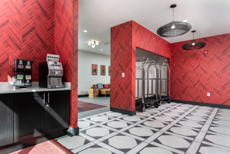 The Red Lobby and Coffee Bar